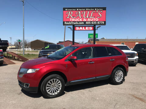 2012 Lincoln MKX for sale at RAUL'S TRUCK & AUTO SALES, INC in Oklahoma City OK