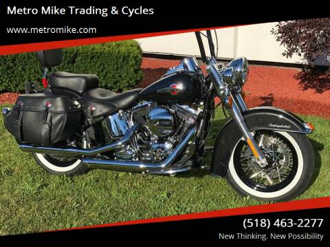2017 Harley-Davidson FLSTC Heritage Softail for sale at Metro Mike Trading & Cycles in Albany NY