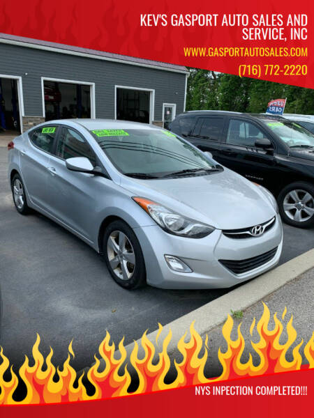 2013 Hyundai Elantra for sale at KEV'S GASPORT AUTO SALES AND SERVICE, INC in Gasport NY