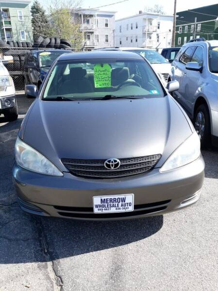 2003 Toyota Camry for sale at MERROW WHOLESALE AUTO in Manchester NH