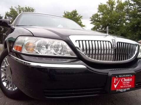 2006 Lincoln Town Car for sale at 1st Choice Auto Sales in Fairfax VA