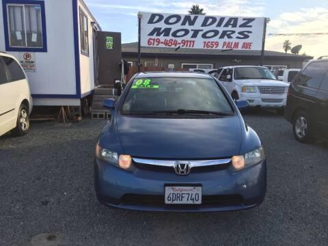 2008 Honda Civic for sale at DON DIAZ MOTORS in San Diego CA