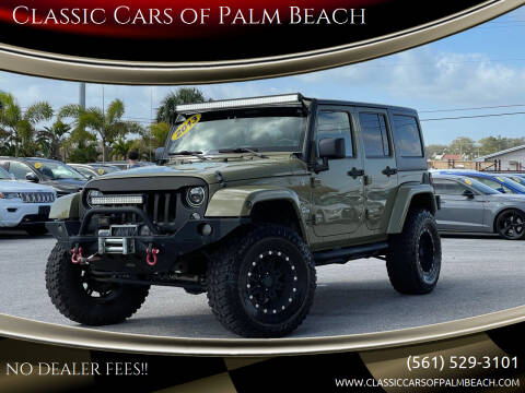 2013 Jeep Wrangler Unlimited for sale at Classic Cars of Palm Beach in Jupiter FL