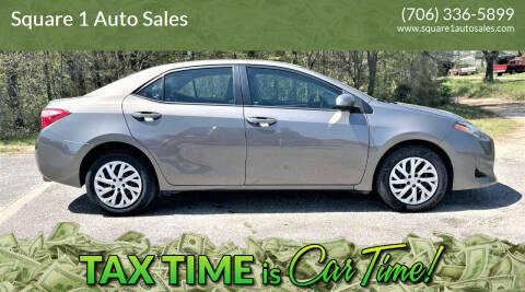 2017 Toyota Corolla for sale at Square 1 Auto Sales - Commerce in Commerce GA