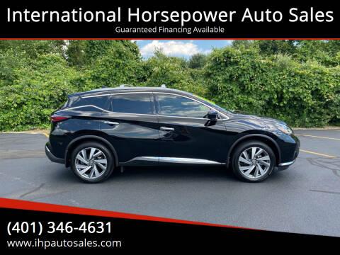 2020 Nissan Murano for sale at International Horsepower Auto Sales in Warwick RI