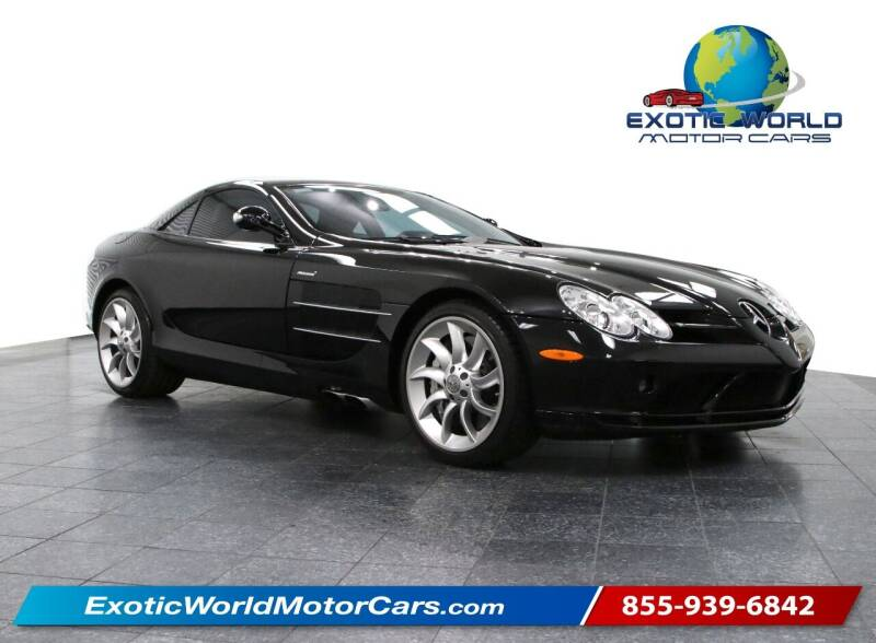 2006 Mercedes-Benz SLR for sale at Exotic World Motor Cars in Addison TX