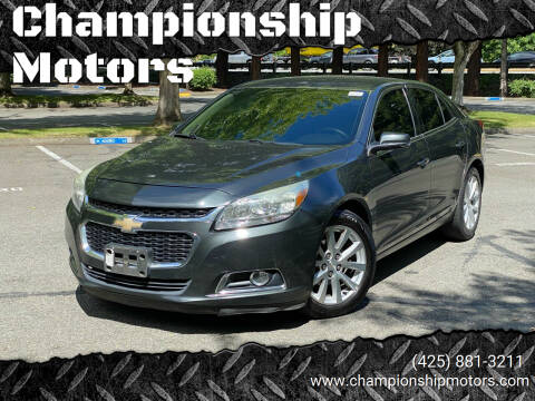 2014 Chevrolet Malibu for sale at Championship Motors in Redmond WA
