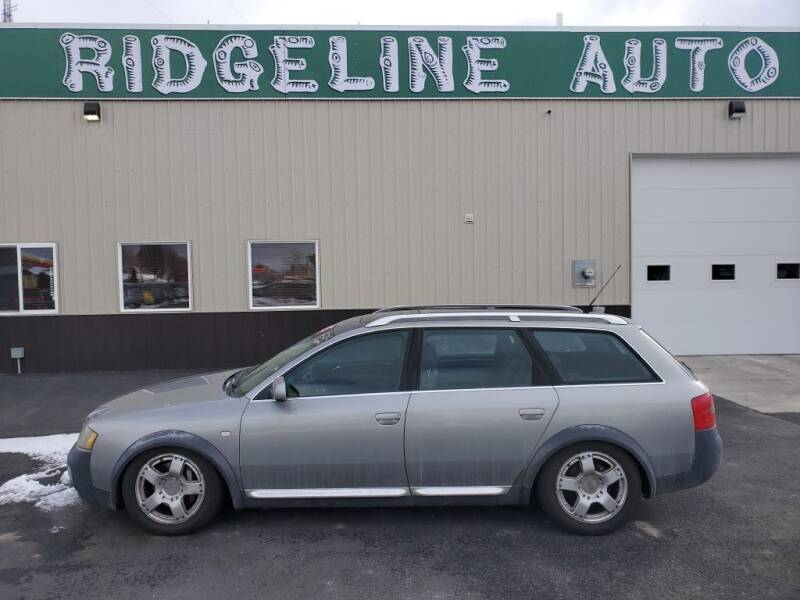 2001 Audi Allroad for sale at RIDGELINE AUTO in Chubbuck ID