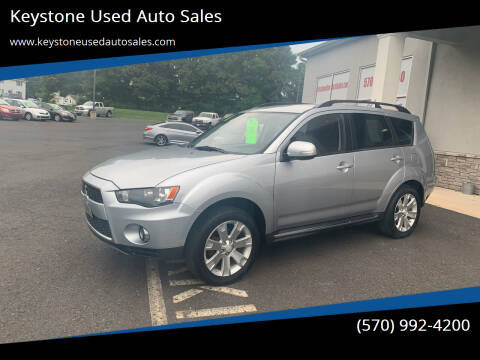 2011 Mitsubishi Outlander for sale at Keystone Used Auto Sales in Brodheadsville PA