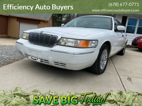 2001 Mercury Grand Marquis for sale at Efficiency Auto Buyers in Milton GA
