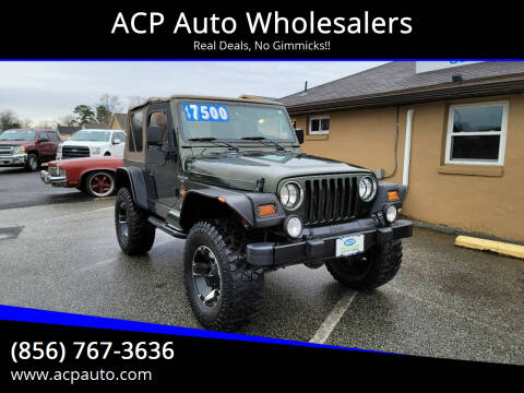 1998 Jeep Wrangler for sale at ACP Auto Wholesalers in Berlin NJ