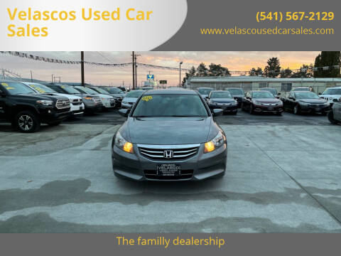 2012 Honda Accord for sale at Velascos Used Car Sales in Hermiston OR