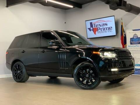 2015 Land Rover Range Rover for sale at Texas Prime Motors in Houston TX