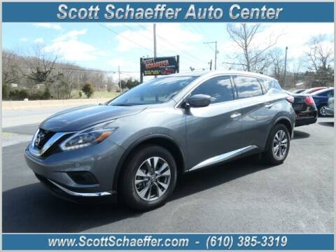 2018 Nissan Murano for sale at Scott Schaeffer Auto Center in Birdsboro PA