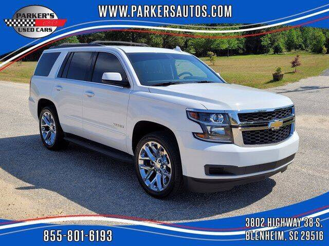 2017 Chevrolet Tahoe for sale at Parker's Used Cars in Blenheim SC