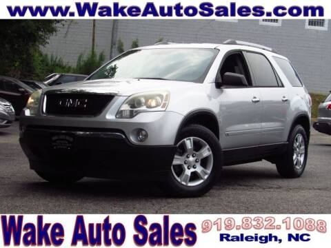 2010 GMC Acadia for sale at Wake Auto Sales Inc in Raleigh NC