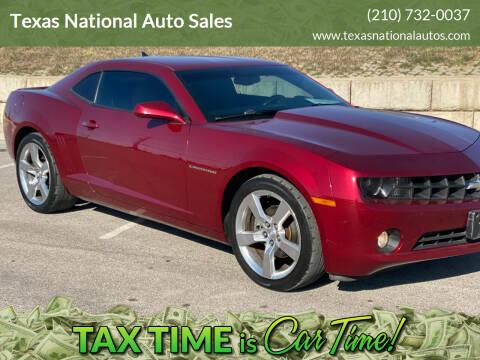 2011 Chevrolet Camaro for sale at Texas National Auto Sales in San Antonio TX