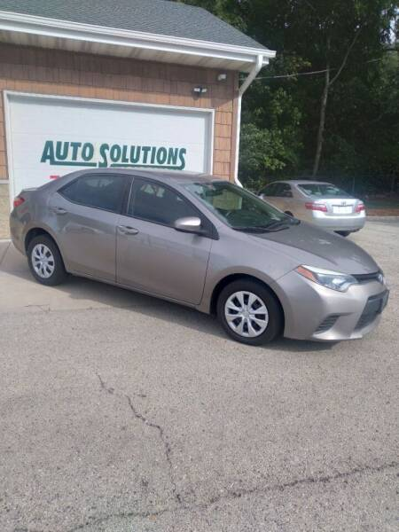 2014 Toyota Corolla for sale at Auto Solutions of Rockford in Rockford IL