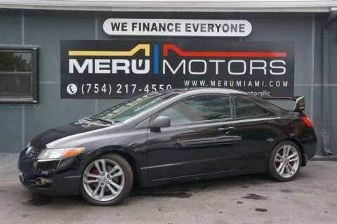 2008 Honda Civic for sale at Meru Motors in Hollywood FL