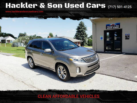 2014 Kia Sorento for sale at Hackler & Son Used Cars in Red Lion PA