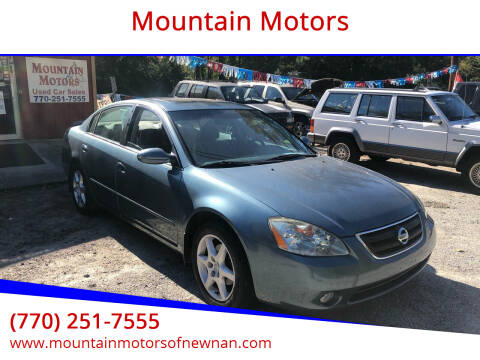 2002 Nissan Altima for sale at Mountain Motors in Newnan GA