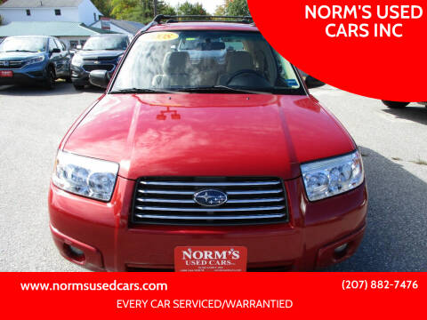 2008 Subaru Forester for sale at NORM'S USED CARS INC in Wiscasset ME