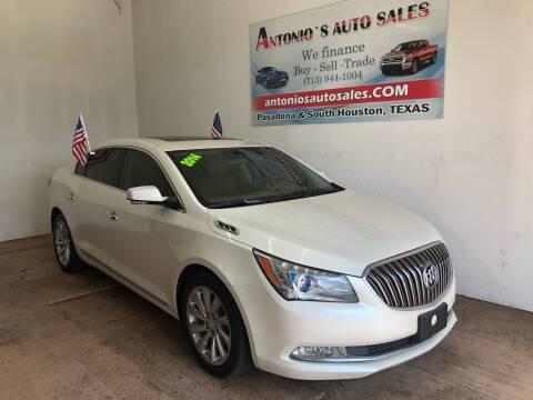 2014 Buick LaCrosse for sale at Antonio's Auto Sales - Antonio`s  2206 in Pasadena TX