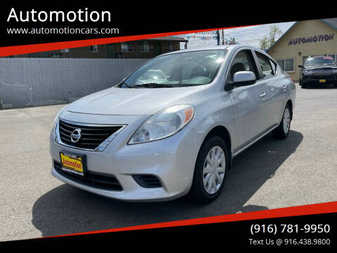 2012 Nissan Versa for sale at Automotion in Roseville CA