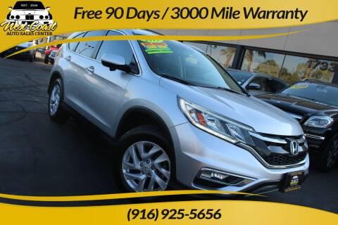 2015 Honda CR-V for sale at West Coast Auto Sales Center in Sacramento CA