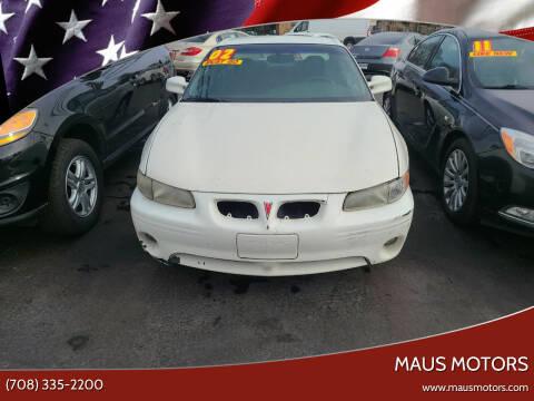 2002 Pontiac Grand Prix for sale at MAUS MOTORS in Hazel Crest IL