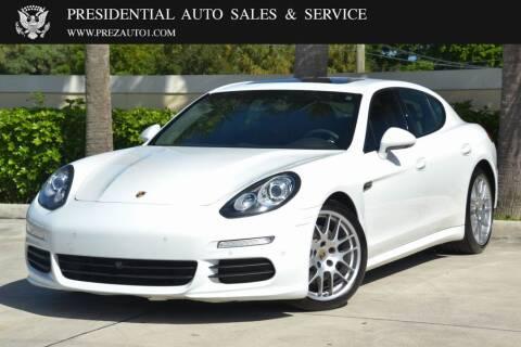 2014 Porsche Panamera for sale at Presidential Auto  Sales & Service in Delray Beach FL