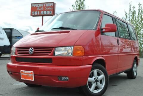 2003 Volkswagen EuroVan for sale at Frontier Auto & RV Sales in Anchorage AK