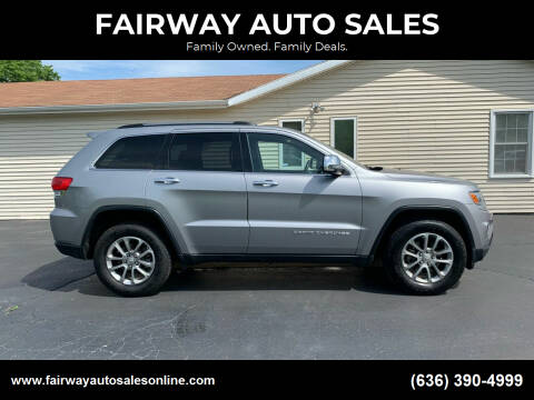 2016 Jeep Grand Cherokee for sale at FAIRWAY AUTO SALES in Washington MO