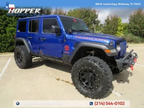 2020 Jeep Wrangler Unlimited for sale at HOPPER MOTORPLEX in Mckinney TX