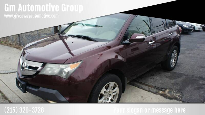 2009 Acura MDX for sale at GM Automotive Group in Philadelphia PA