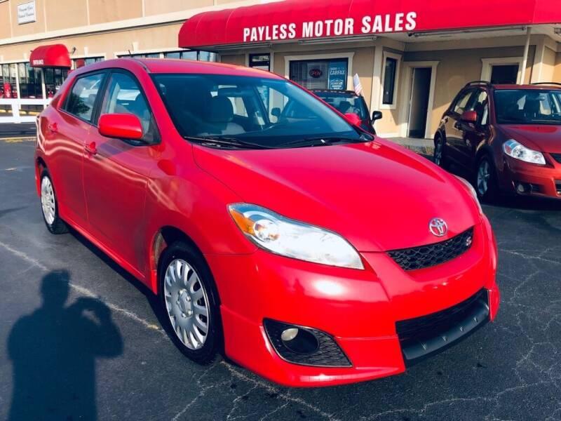 2009 Toyota Matrix for sale at Payless Motor Sales LLC in Burlington NC