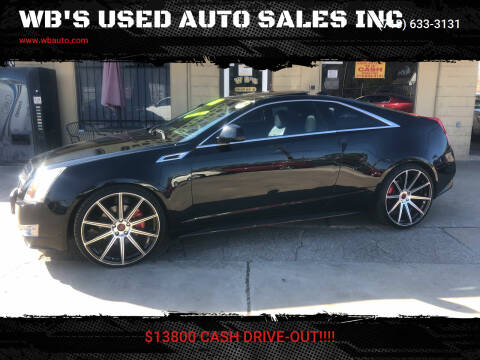 2011 Cadillac CTS for sale at WB'S USED AUTO SALES INC in Houston TX