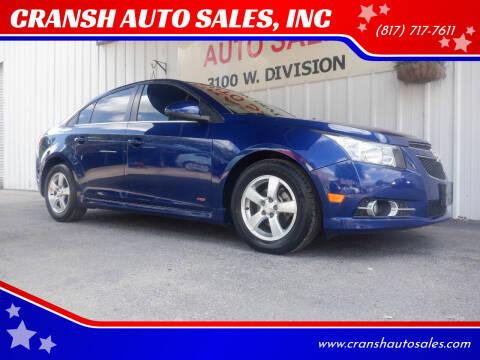 2012 Chevrolet Cruze for sale at CRANSH AUTO SALES, INC in Arlington TX