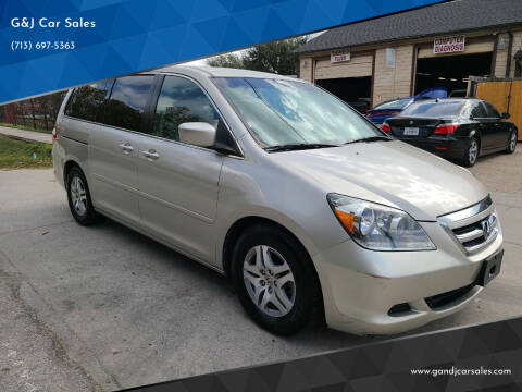 2006 Honda Odyssey for sale at G&J Car Sales in Houston TX