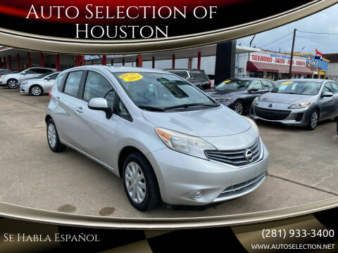 2014 Nissan Versa Note for sale at Auto Selection of Houston in Houston TX