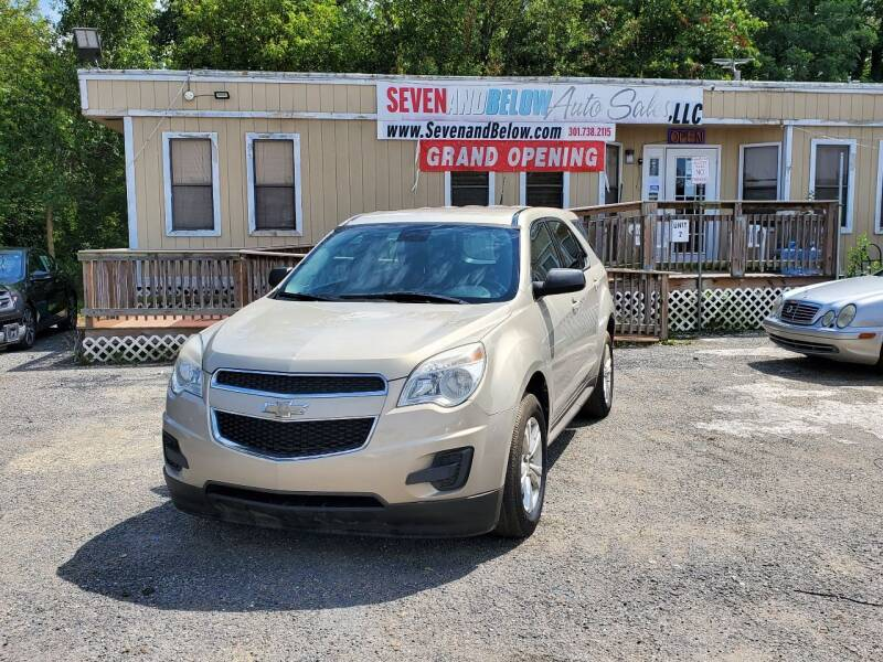 2012 Chevrolet Equinox for sale at Seven and Below Auto Sales, LLC in Rockville MD