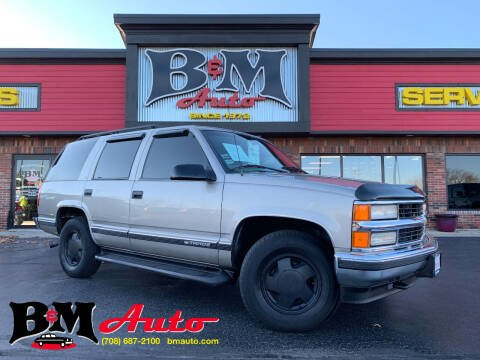 1999 Chevrolet Tahoe for sale at B & M Auto Sales Inc. in Oak Forest IL