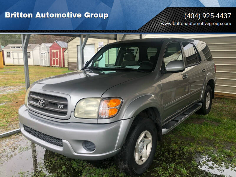 2002 Toyota Sequoia for sale at Britton Automotive Group in Loganville GA