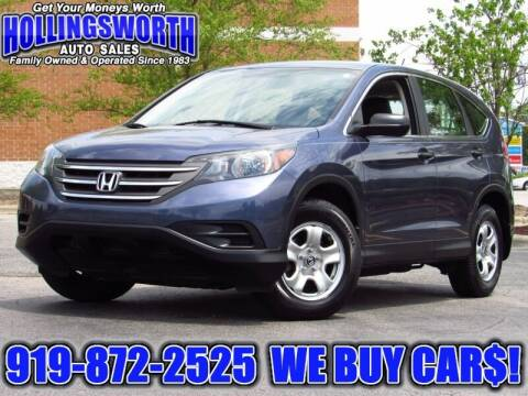 2013 Honda CR-V for sale at Hollingsworth Auto Sales in Raleigh NC