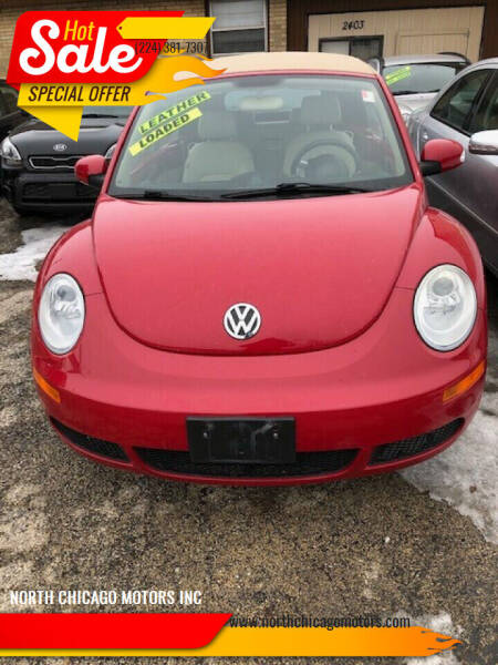 2008 Volkswagen New Beetle Convertible for sale at NORTH CHICAGO MOTORS INC in North Chicago IL
