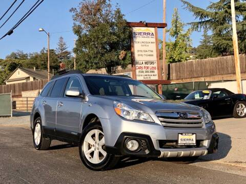 2014 Subaru Outback for sale at Sierra Auto Sales Inc in Auburn CA