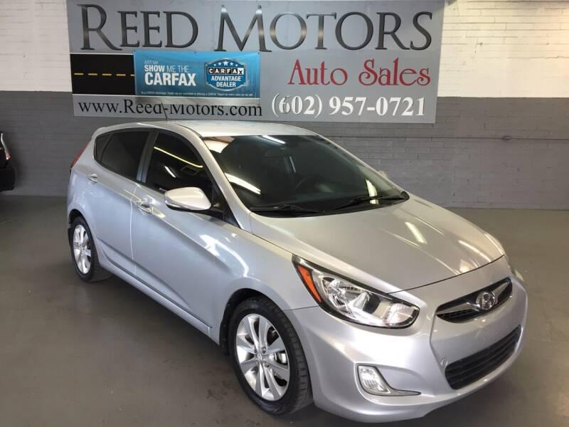2013 Hyundai Accent for sale at REED MOTORS LLC in Phoenix AZ