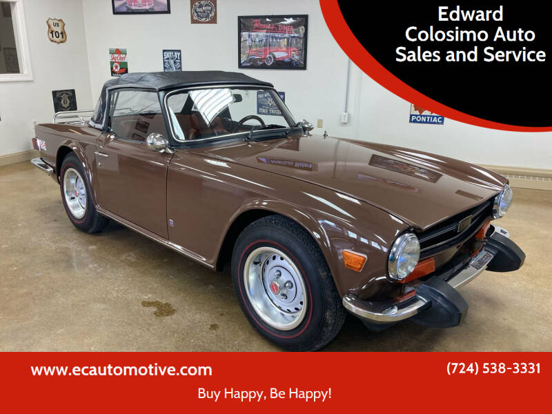 1974 Triumph TR6 for sale at Edward Colosimo Auto Sales and Service in Evans City PA