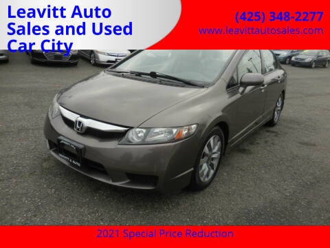 2010 Honda Civic for sale at Leavitt Auto Sales and Used Car City in Everett WA