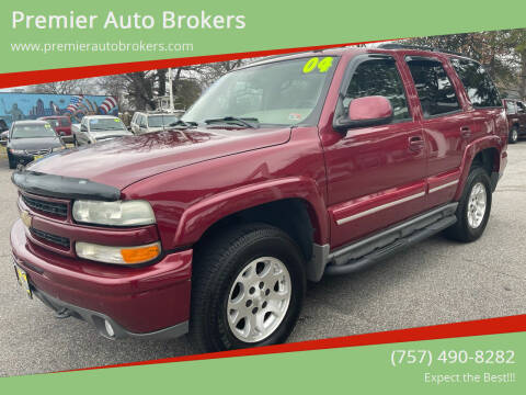 2004 Chevrolet Tahoe for sale at Premier Auto Brokers in Virginia Beach VA